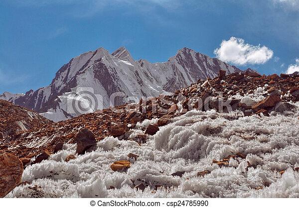 Ice crystals in Tajikistan - csp24785990