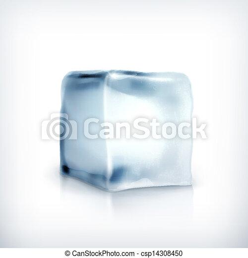 Ice cube, vector - csp14308450