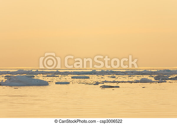 Ice Floating in Calm Sea - csp3006522