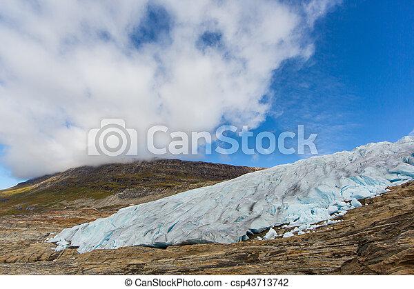 Ice front of Svartisen Glacier in Norway - csp43713742