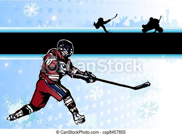 ice hockey background 2 - csp8457855