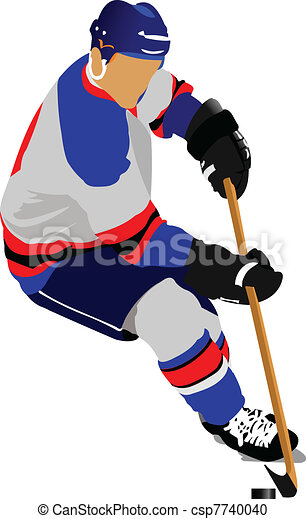 ice hockey players colored vector illustration for vector rh canstockphoto com ice hockey clipart black and white ice hockey clipart free