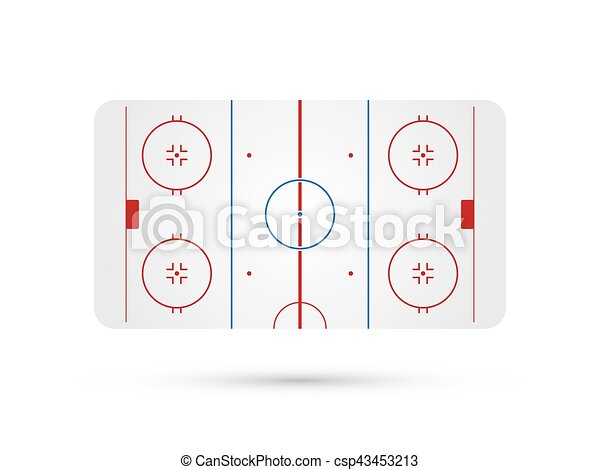 ice hockey rink with blue red skate marks vector background vector clip art search. Black Bedroom Furniture Sets. Home Design Ideas
