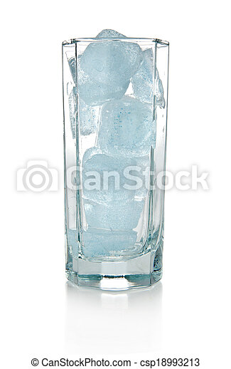 ice in glass - csp18993213