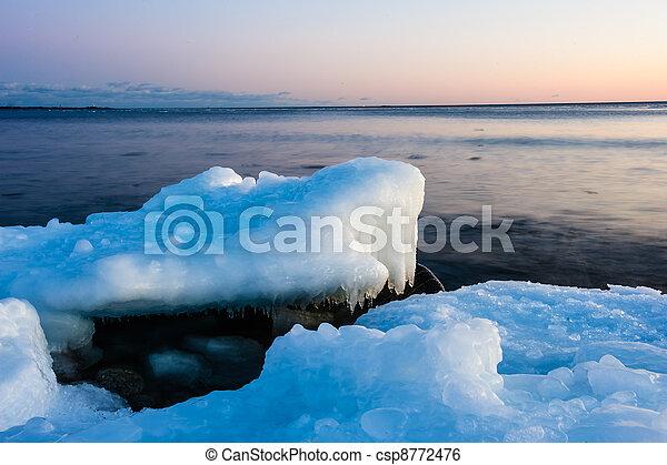 Ice on the beach - csp8772476