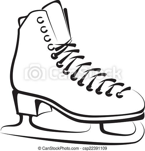 ice skate vector clipart search illustration drawings and eps rh canstockphoto com ice skates clipart images Ice Skate Clip Art Outline