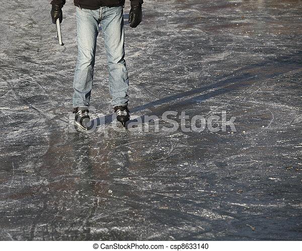 Ice skater on ice - csp8633140