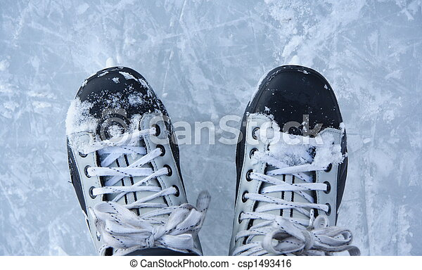 Ice skates closeup - csp1493416