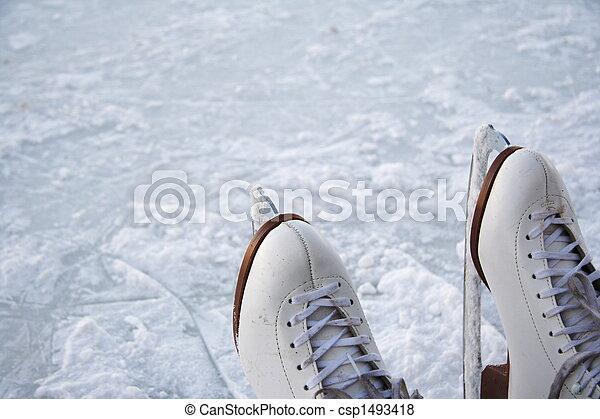 Ice skates outdoors - csp1493418