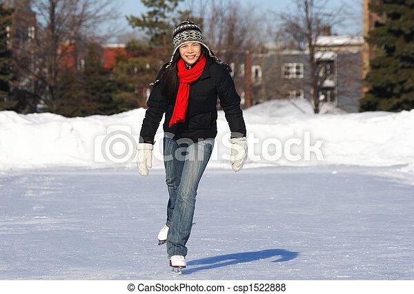 Ice skating - csp1522888