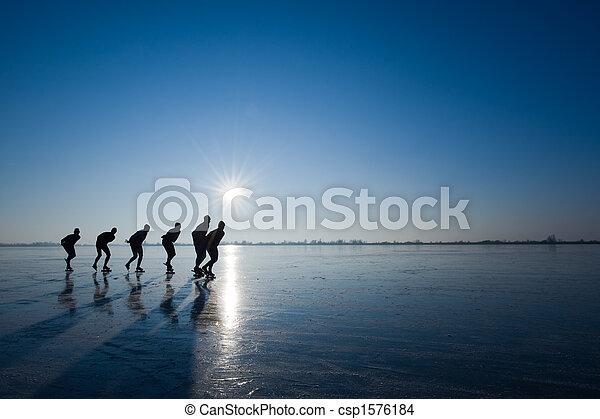 ice skating - csp1576184