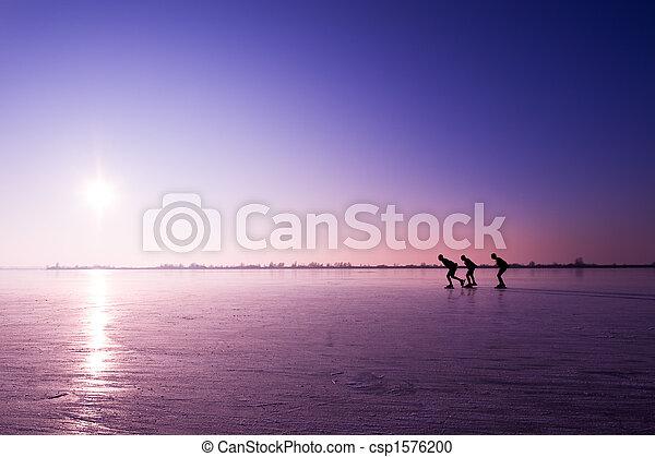 ice skating - csp1576200