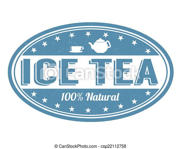 Ice tea stamp - csp22112758