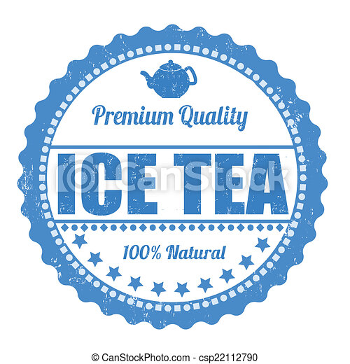 Ice tea stamp - csp22112790