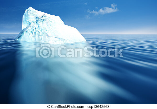 Iceberg. Abstract eco backgrounds for your design - csp13642563