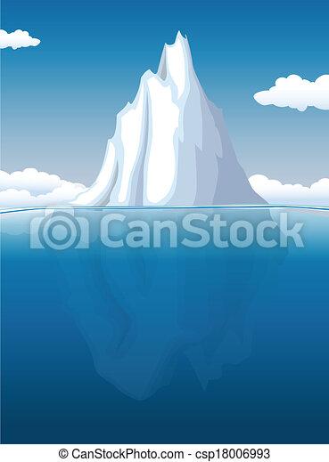 Iceberg eps vectors search clip art illustration for Clipart iceberg