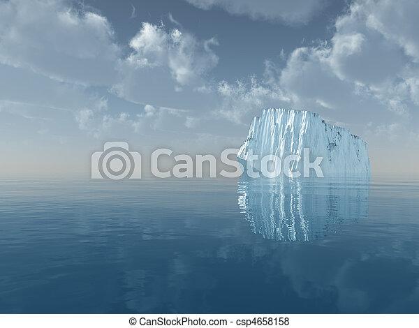 Iceberg in open sea - csp4658158