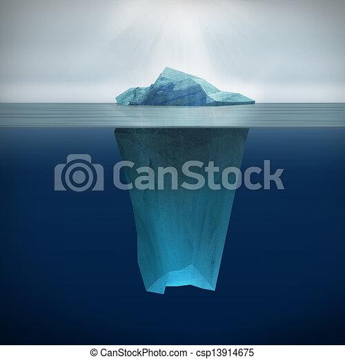3d render of iceberg for Clipart iceberg