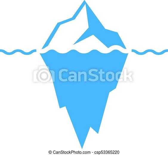 Iceberg vector icon on white background vector for Clipart iceberg