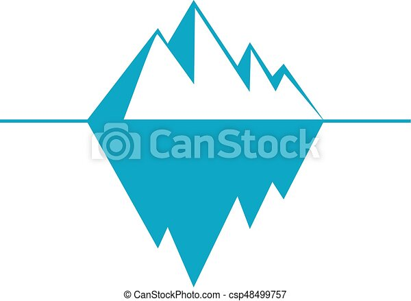 iceberg vector icon isolated on white background ice berg rh canstockphoto com cartoon iceberg clipart iceberg clipart images
