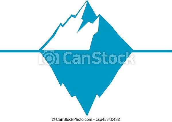 iceberg vector icon isolated on white background ice berg rh canstockphoto com titanic iceberg clipart iceberg clipart free