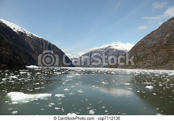 Icebergs & Mountains - csp7112130