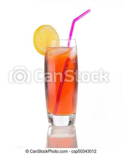 Iced Tea Glass on White - csp50343012