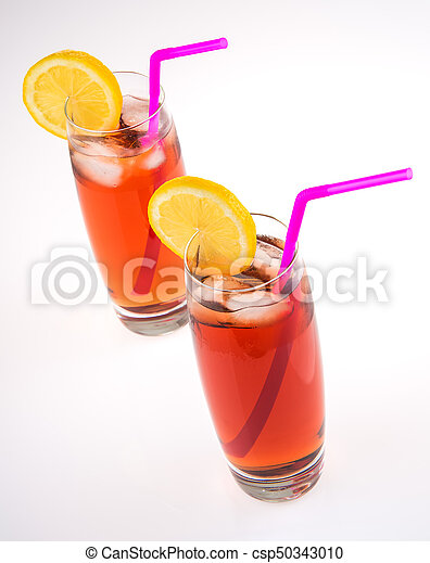 Iced Tea Glasses on White - csp50343010