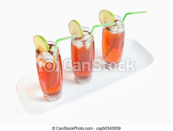 Iced Tea Glasses on White - csp50343009