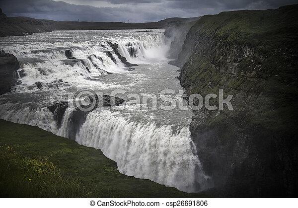 Iceland Gullfoss waterfall - csp26691806