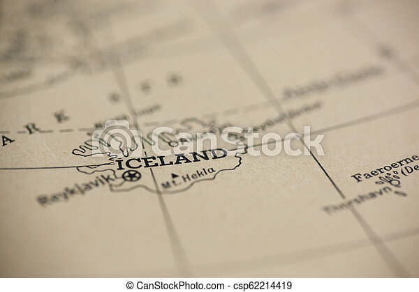 Iceland on Map - csp62214419