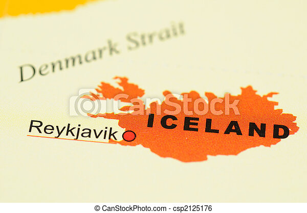 Iceland on map - csp2125176
