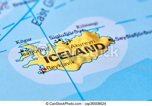 Iceland on the map iceland country in europe on the world map iceland on the map csp36508624 gumiabroncs Images