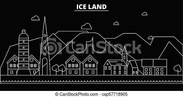 d2974df0f908 Iceland silhouette skyline