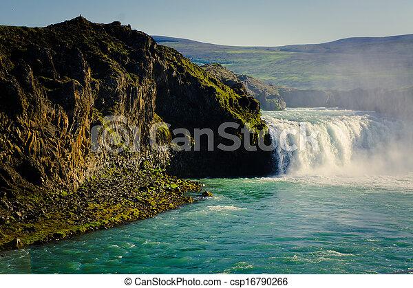 Icelandic Waterfall Godafoss  - csp16790266