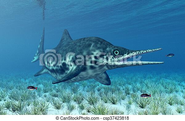 Ichthyosaur Shonisaurus - csp37423818
