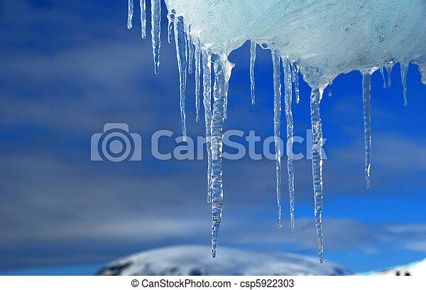 icicles antarctica - csp5922303