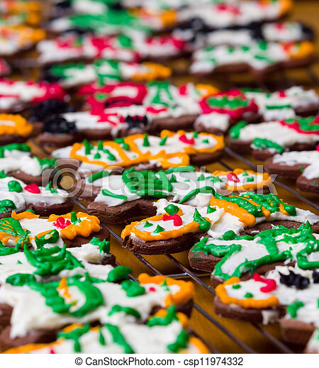 Icing cookies - csp11974332