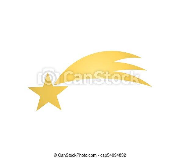 icon., étoile, noël, or - csp54034832