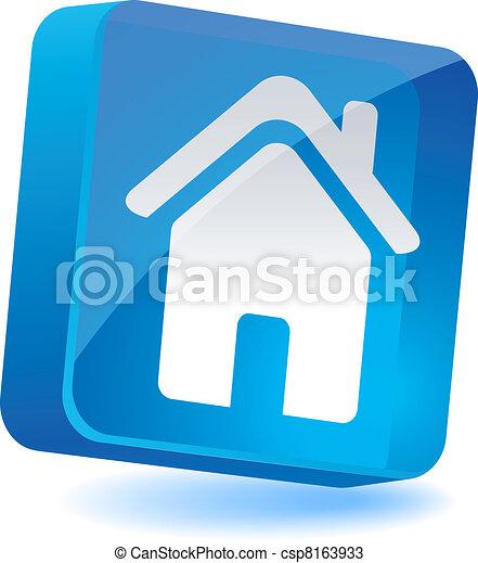 icon., 家 - csp8163933