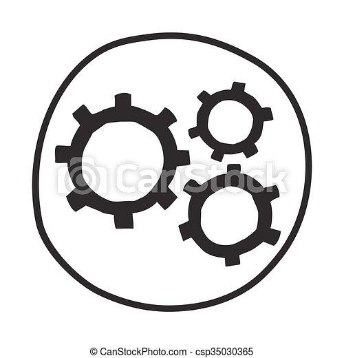 icon., 은 설치한다, 낙서 - csp35030365