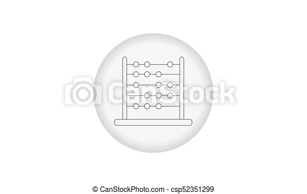 Icon abacus for mathematical calculations - csp52351299