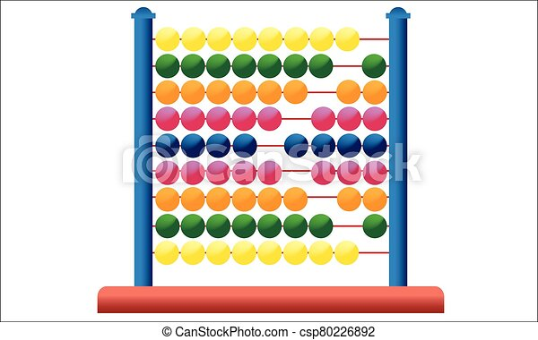 Icon abacus for mathematical calculations - csp80226892