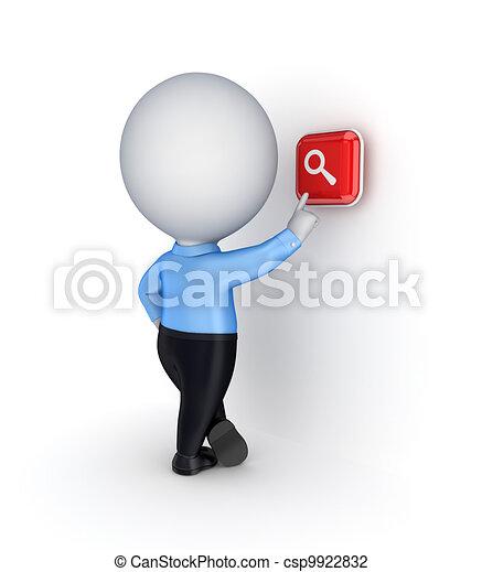 icon., anschieben, zoom, person, 3d, klein - csp9922832