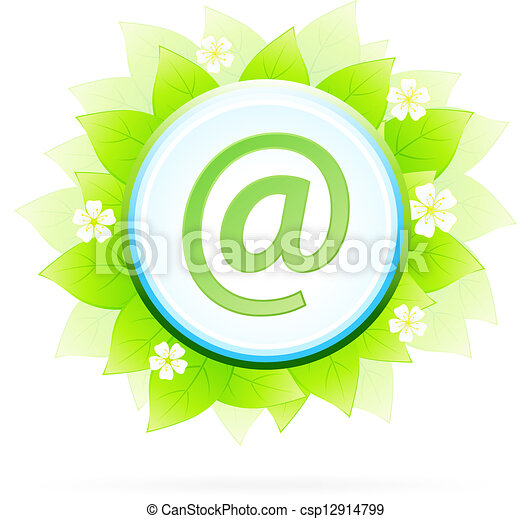 Icon Button Internet and E-mail - csp12914799