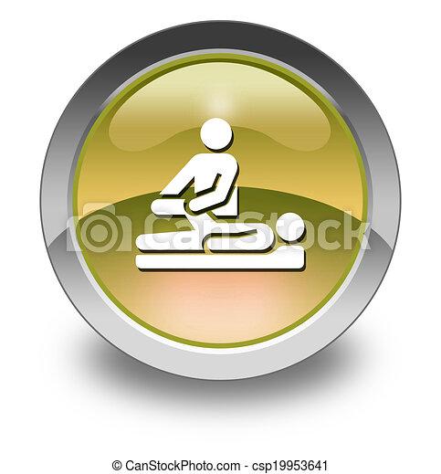 Icon Button Pictogram Physical Therapy Icon Button Pictogram