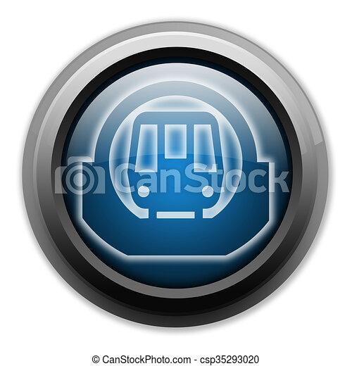 Icon Button Pictogram Subway Icon Button Pictogram With Subway