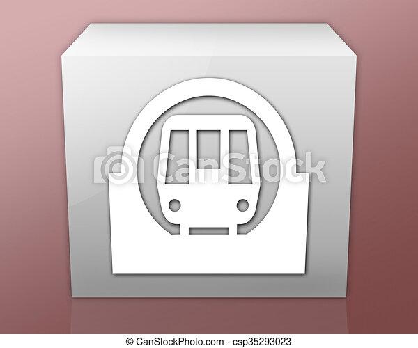 Icon Button Pictogram Subway Icon Button Pictogram With Clip