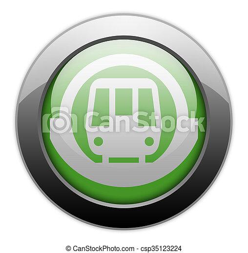 Icon Button Pictogram Subway Icon Button Pictogram With