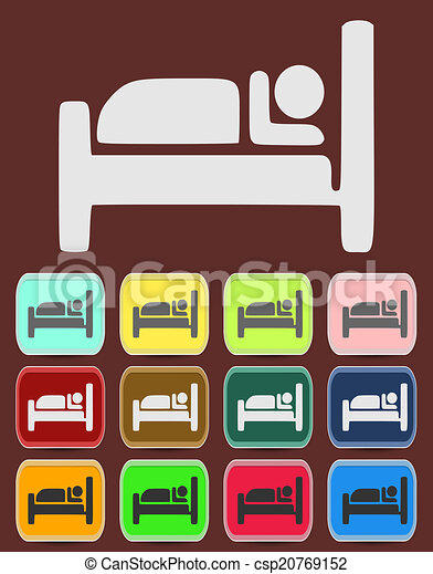 Icon, Button, Pictogram with Hotel - csp20769152